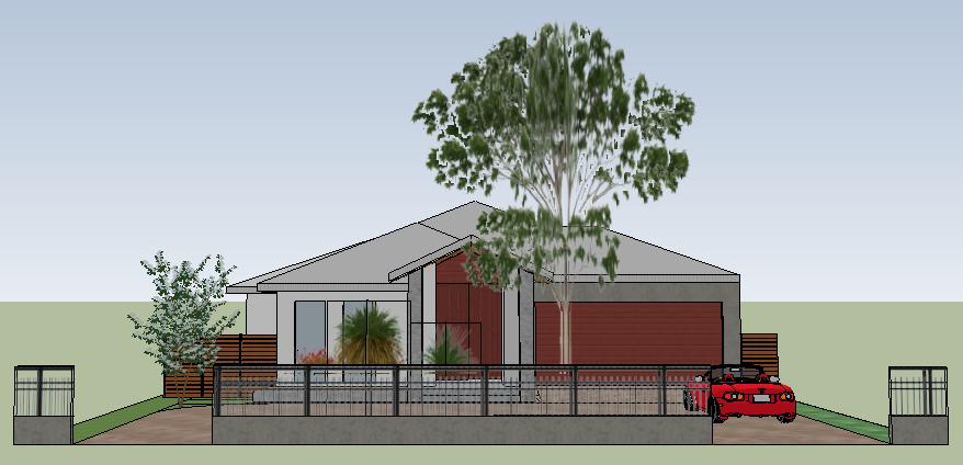 House model facade in sketchup - the facade