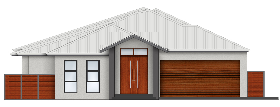 Front elevation colours, amended.