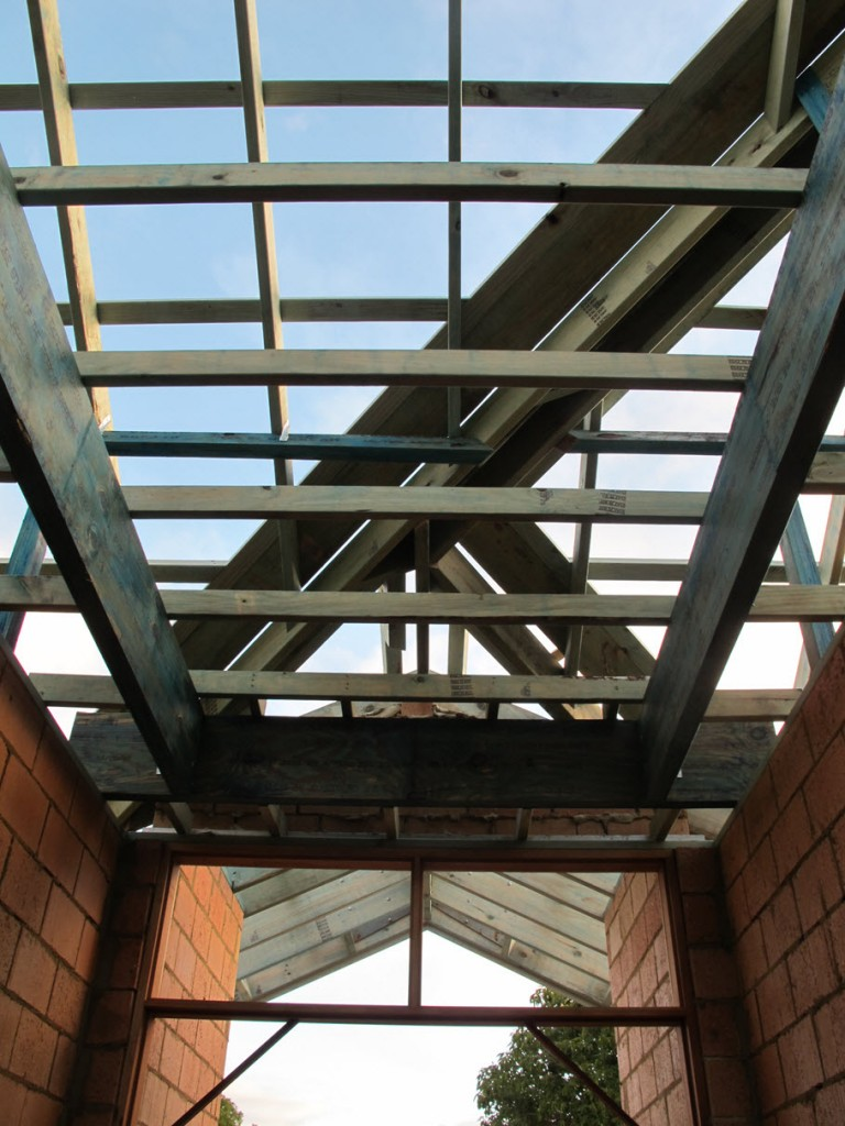 Roof timbers, front entry
