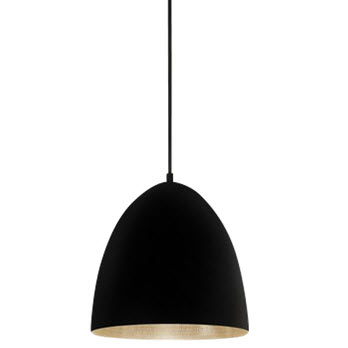 Emac and Lawton Egg Black Label Silver Pendant Light