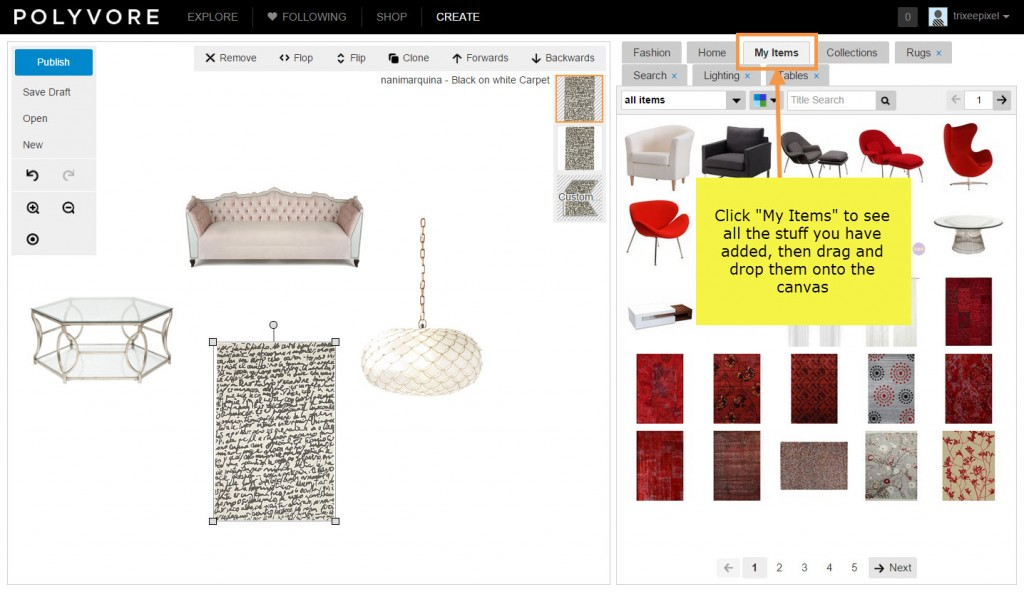 How to create an interior design mood board using Polyvore