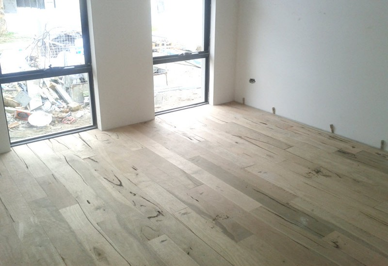 Marri floorboards - raw and unsealed