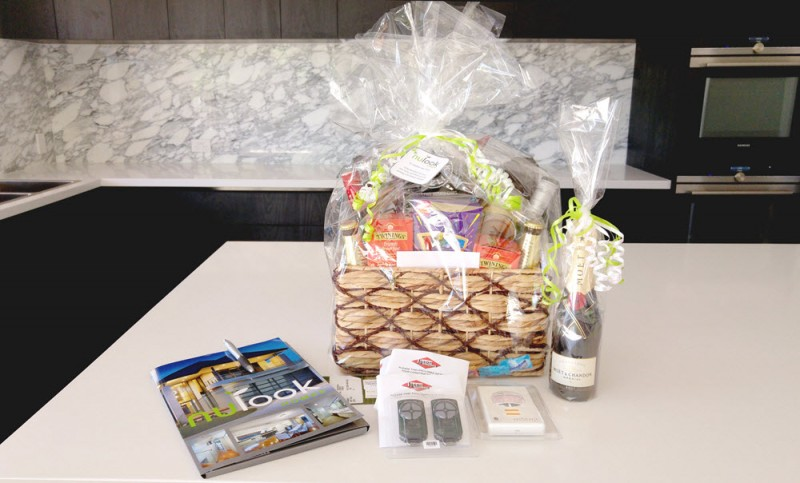 Key handover gift basket from Nulook Homes