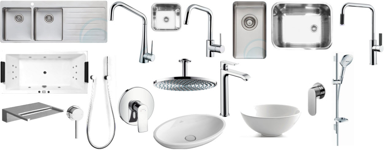Plumbing and tapware selections